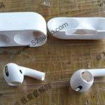Supuesta caja y plásticos de los recientes AirPods