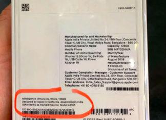 Diseñado por Apple en California, ensamblado en India