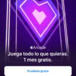 Un mes gratuitas de Apple™ Arcade