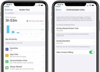 Ajustes de Communication Limits en la App de Ajustes