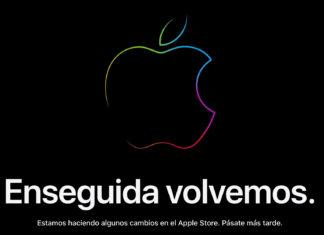 Cartel de enseguida volvemos en la web de Apple