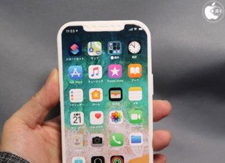Maqueta que muestra el supuesto diseño del iPhone 12