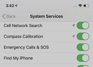 Opciones de localización en iOS 13.3.1