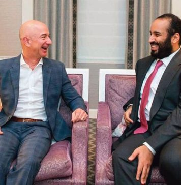 Jeff Bezos y Mohamed bin Salmán