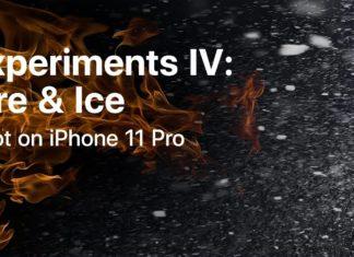 Fuego y hielo, fotografiado con un iPhone 11 Pro