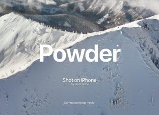 Grabando con un iPhone en la nieve