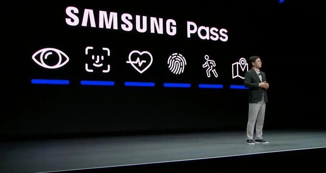 Icono de Face ID en una presentación de Samsung