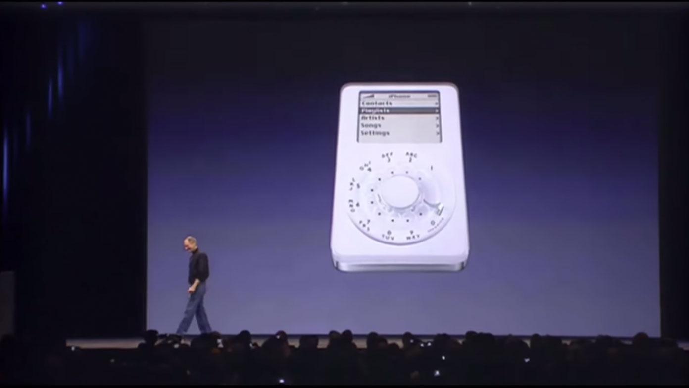 iPod con teléfono, la broma de la presentación del iPhone original