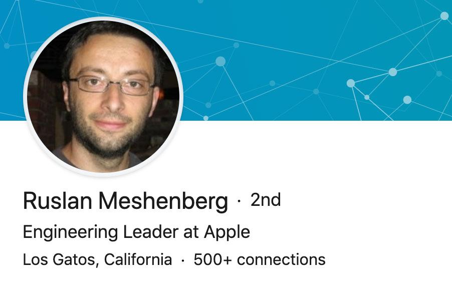 LinkedIn de Ruslan Meshenberg