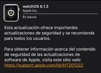 Actualización a watchOS 6.1.3