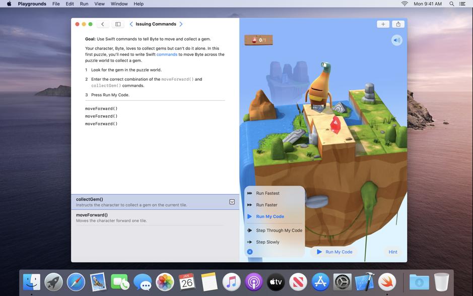 Swift Playgrounds para macOS