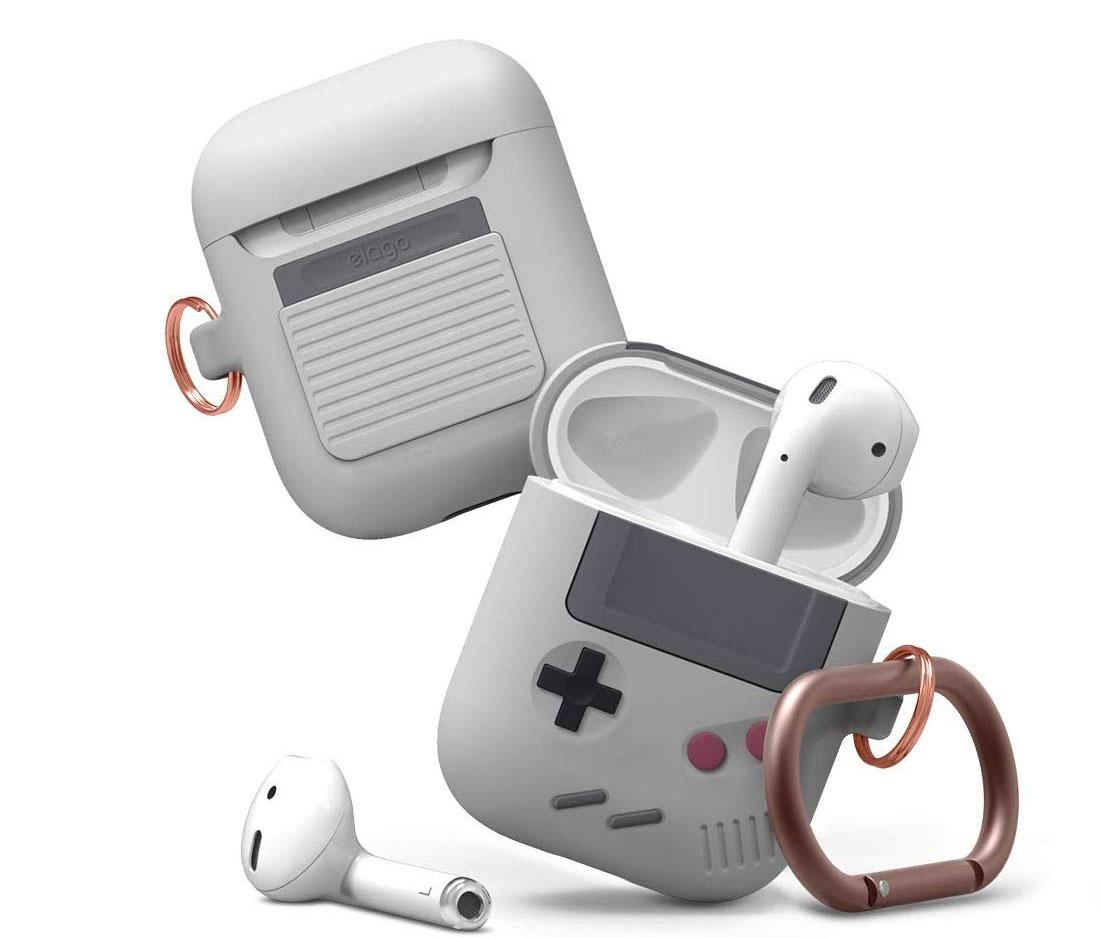 Funda para AirPods con estilo de Game Boy