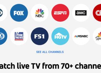 Canales de YouTube TV en EEUU
