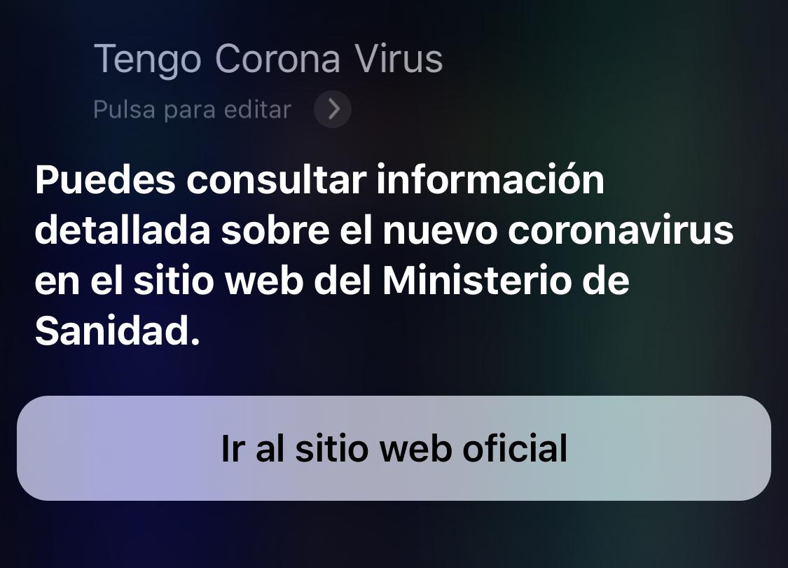 Preguntando a Siri por el Coronavirus