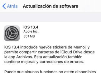 iOS 13.4 ya disponible