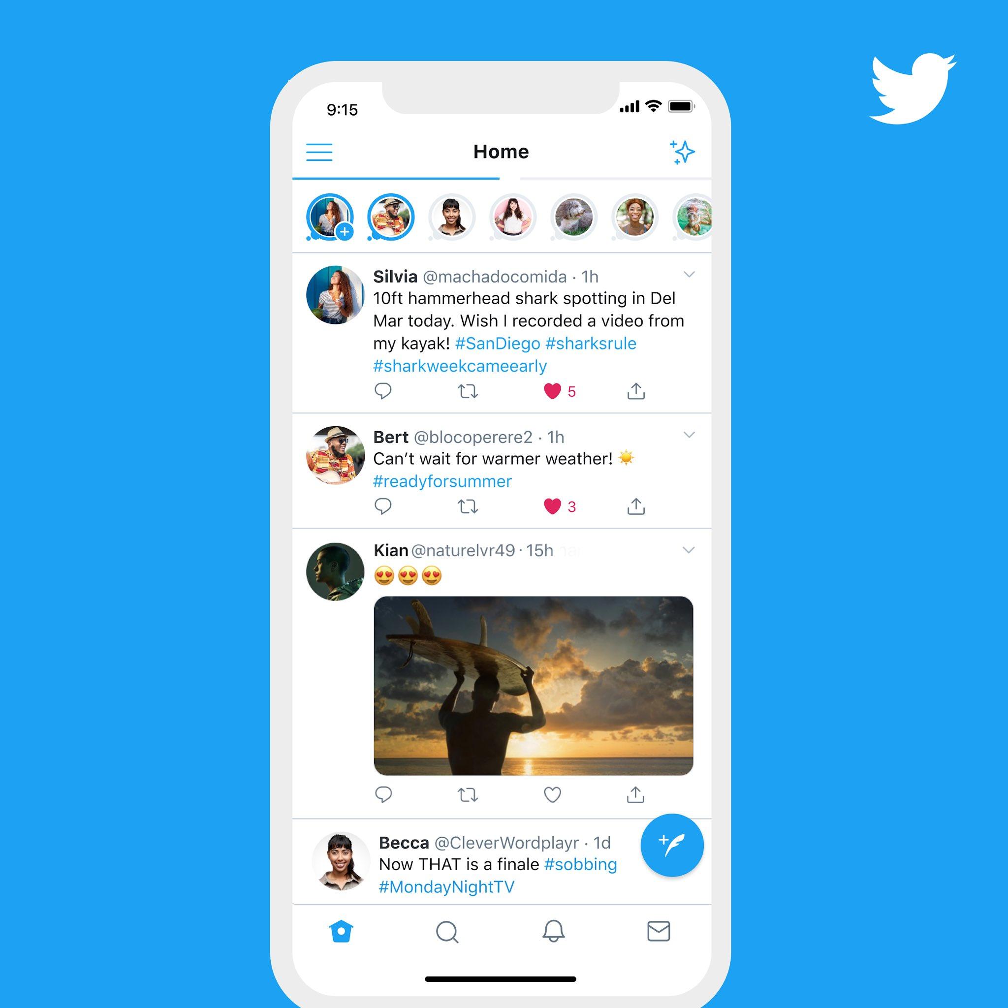 Fleets en Twitter