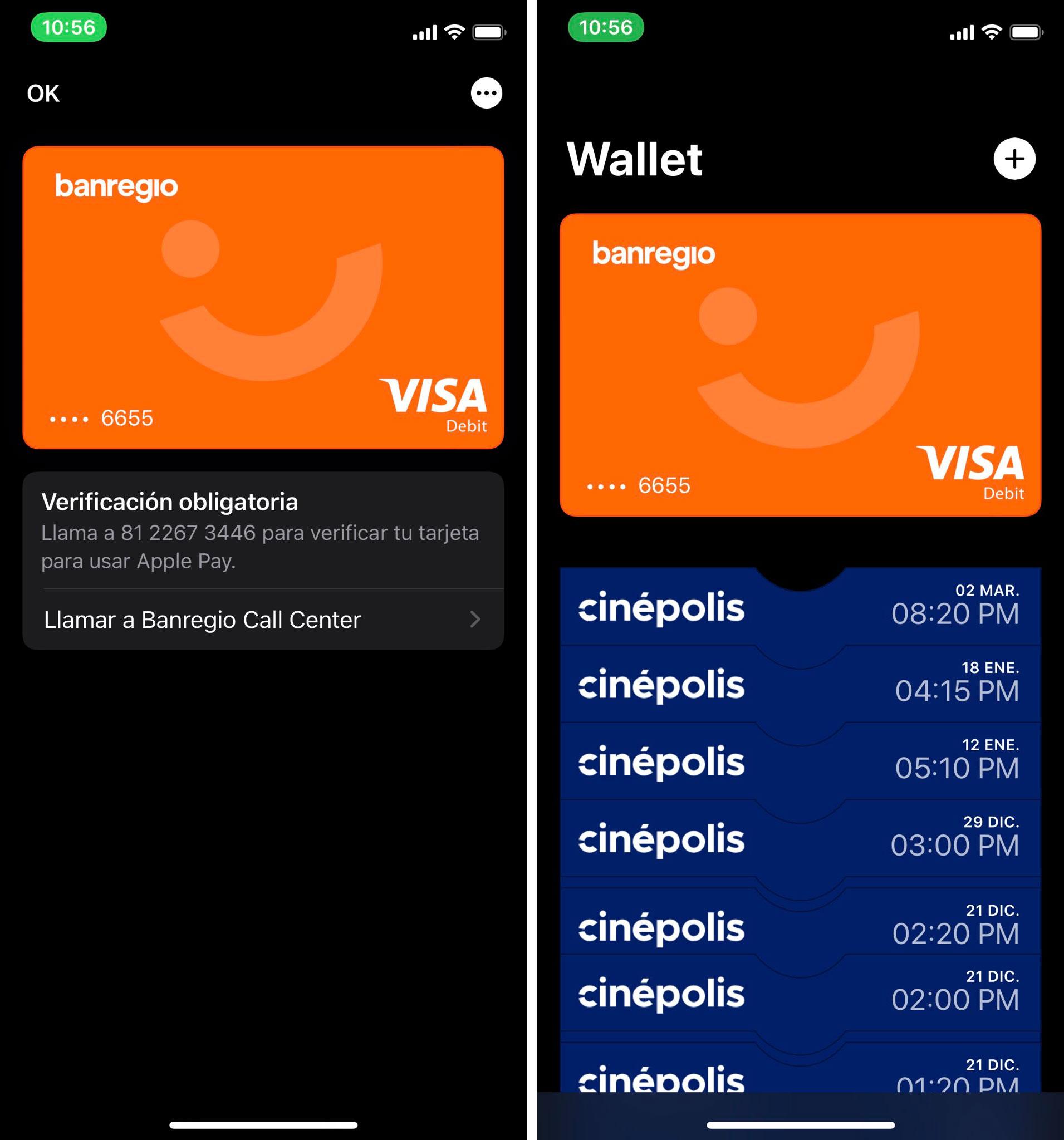 Registrando la tarjeta de Banregio en Apple Pay