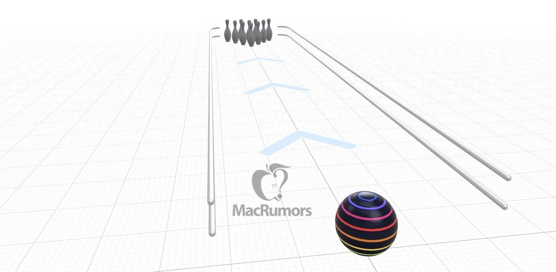 Juego de bolos en realidad virtual de Apple