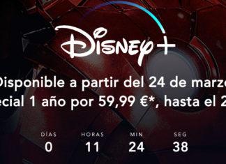 Oferta de Disney+ antes de su lanzamiento el 24 de marzo del 2020