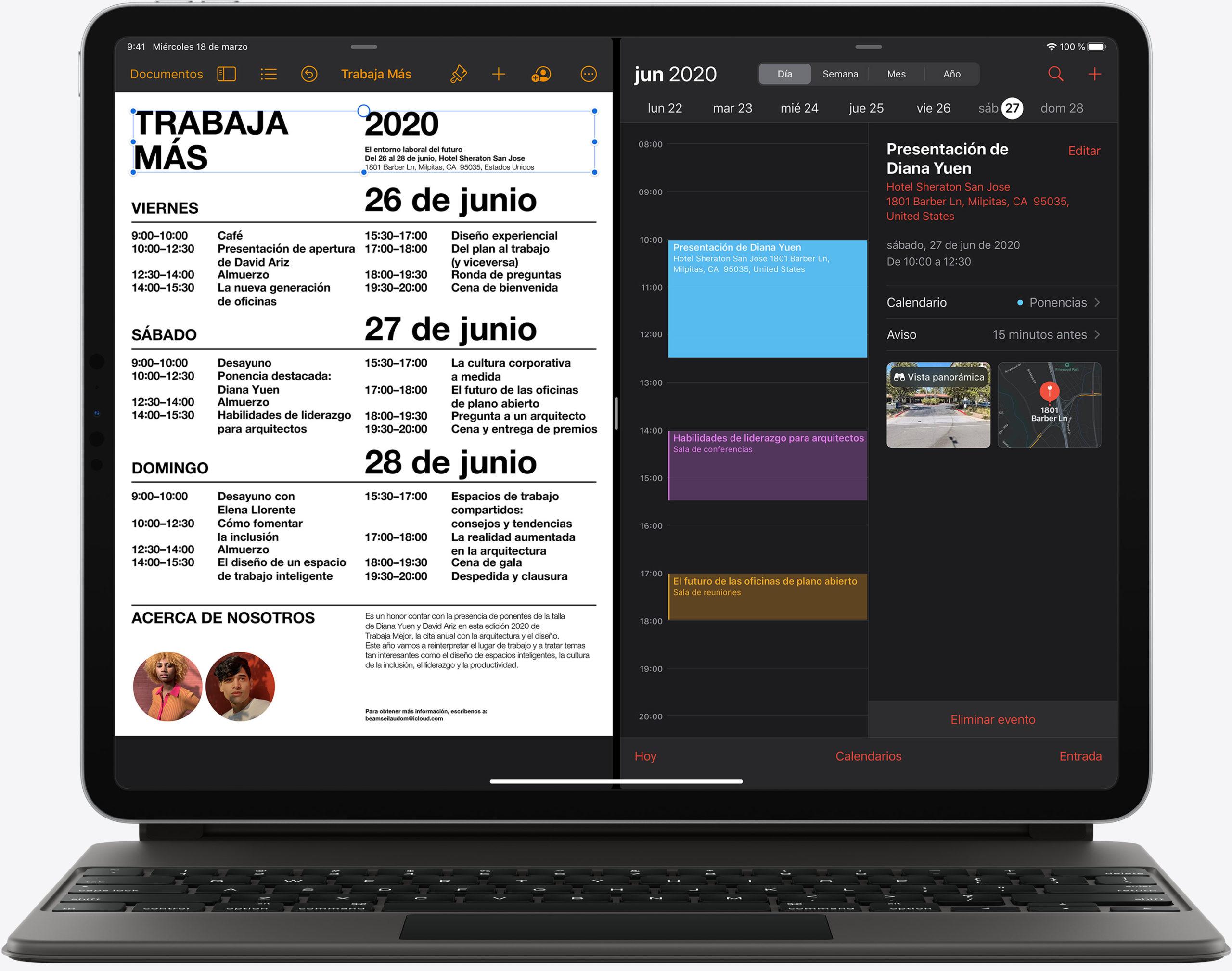 Cursor en un iPad Pro del 2020