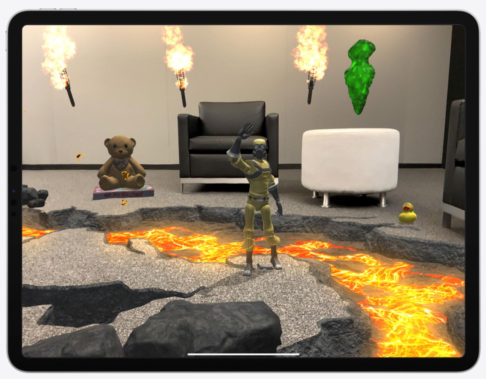 Realidad aumentada con el escáner LiDAR en el iPad Pro 2020