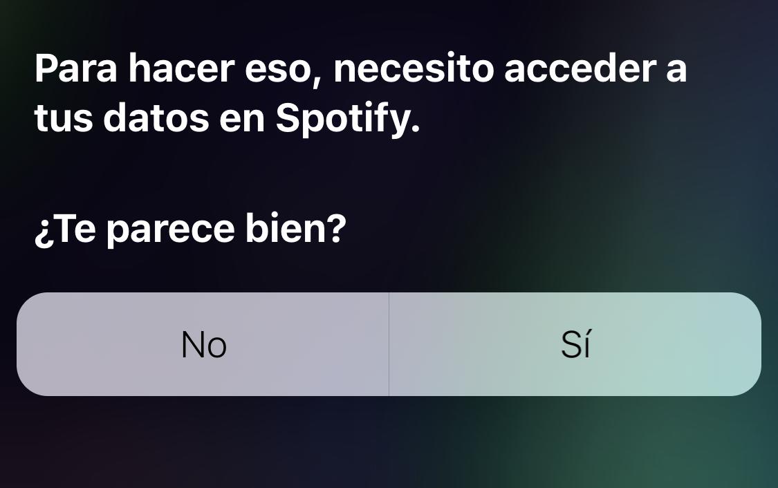 Siri pide permiso para acceder a los datos de Spotify