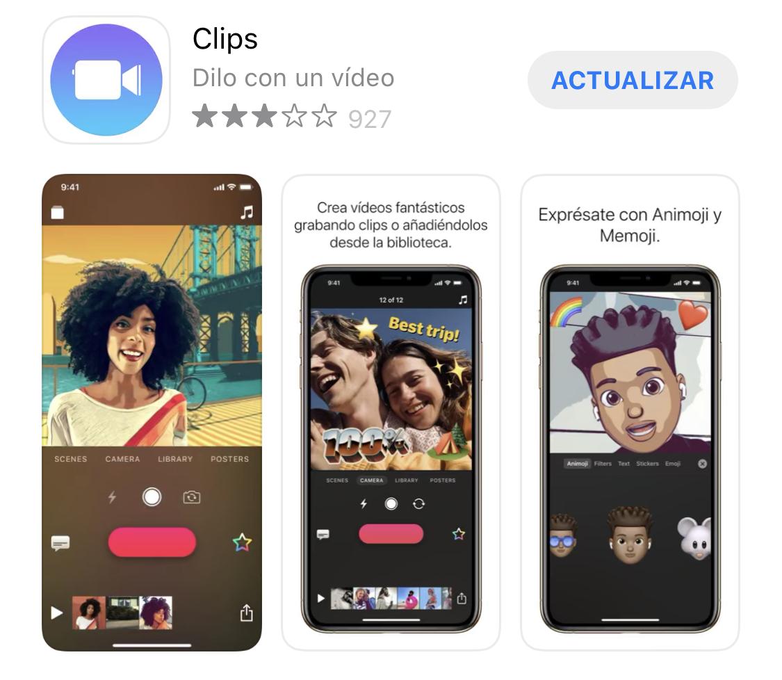 App de Clips lista para actualizar