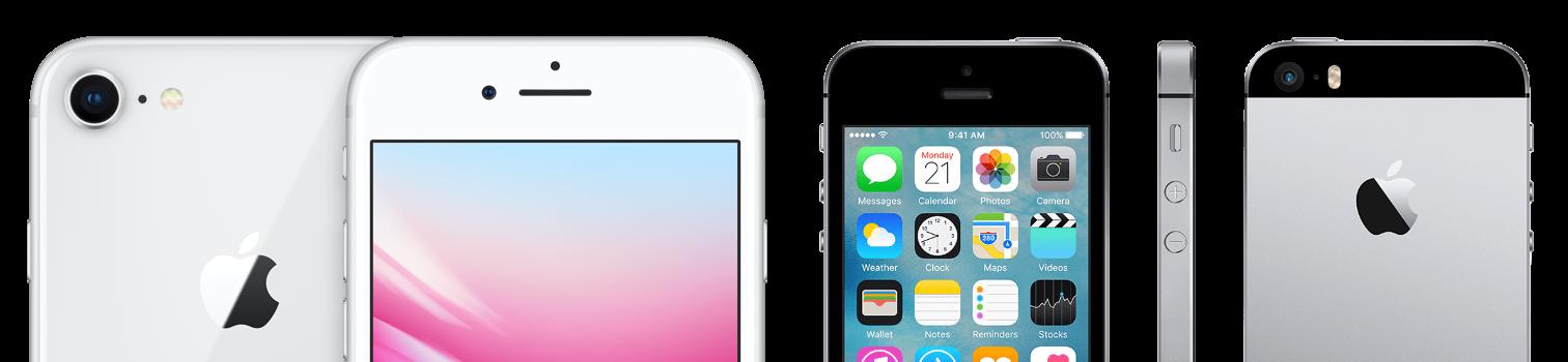 iPhone SE del 2016 y del 2020