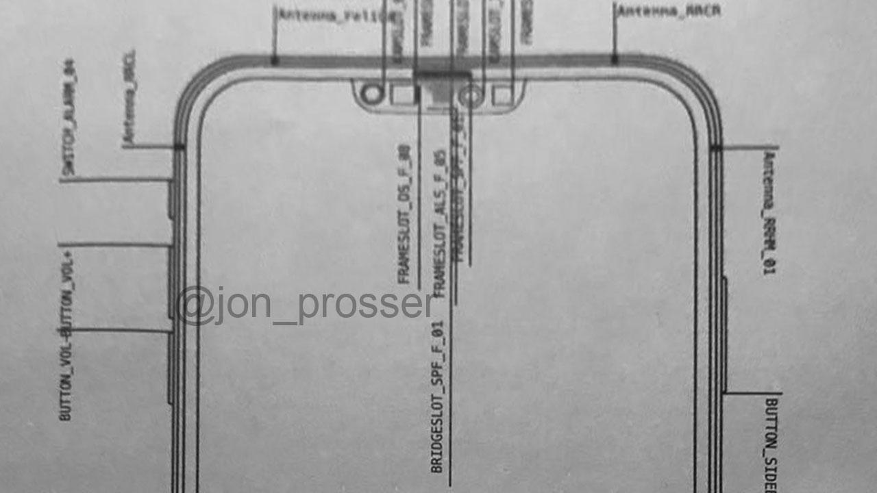 Supuesto esquema del iPhone 12