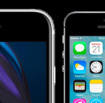 Nuevo iPhone SE del 2020 junto al iPhone SE de primera generación del año 2016