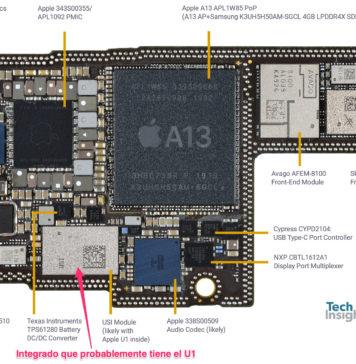 Placa base del iPhone 11 Pro Max con el A13
