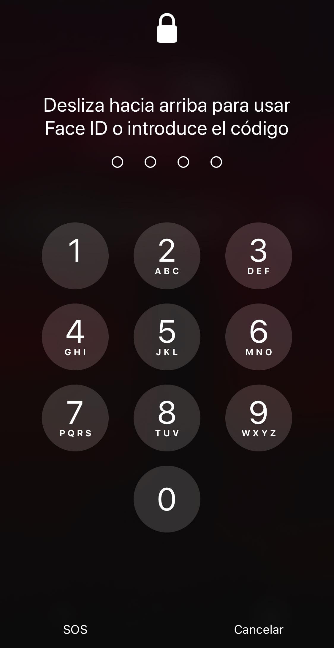 Código de desbloqueo en el iPhone