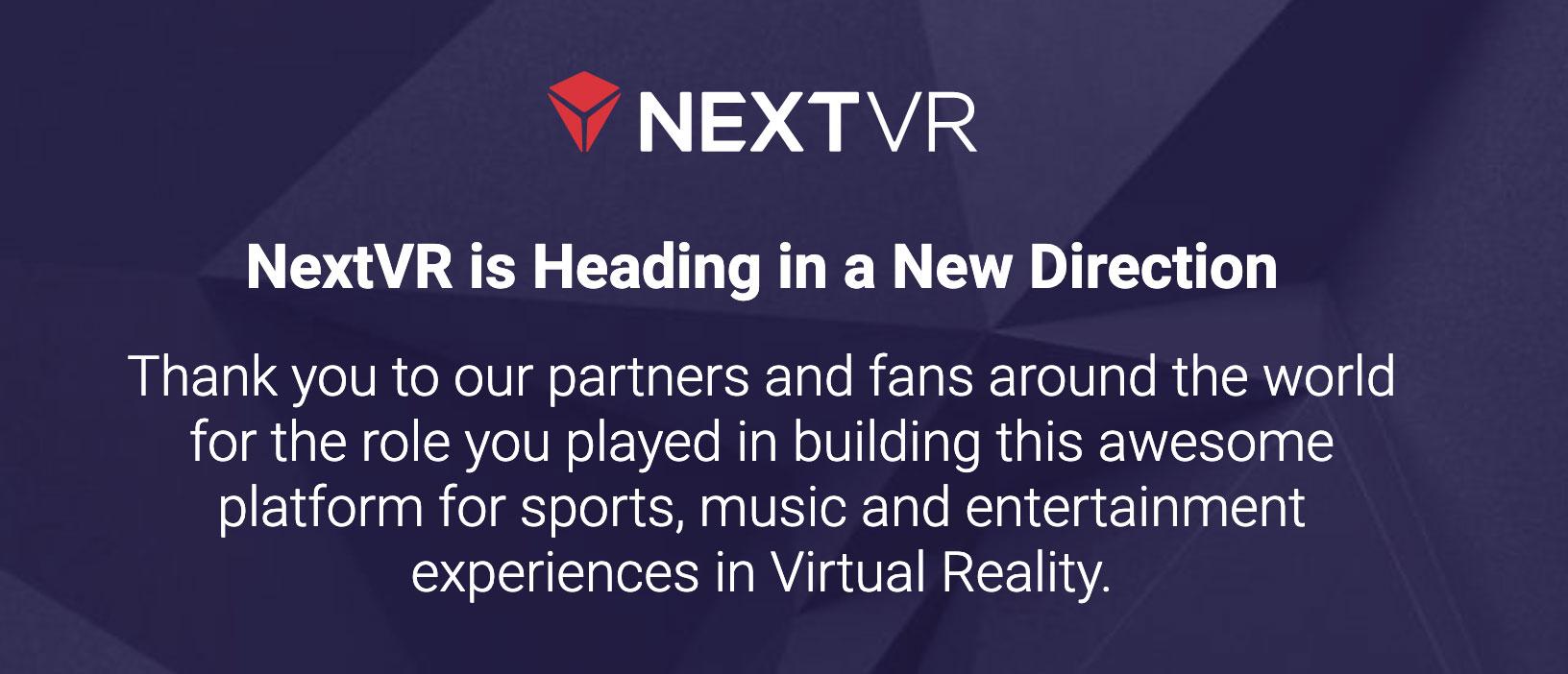 NextVR cierra su web