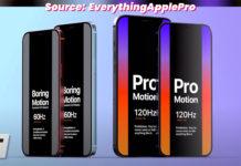 Pantallas de 120 Hz para el iPhone 12 Pro