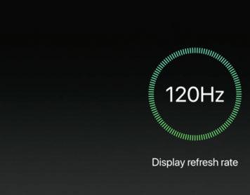 Refresco de pantalla a 120 Hz en la presentación del iPad Pro