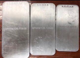 Maquetas metálicas que muestran el supuesto diseño del iPhone 12