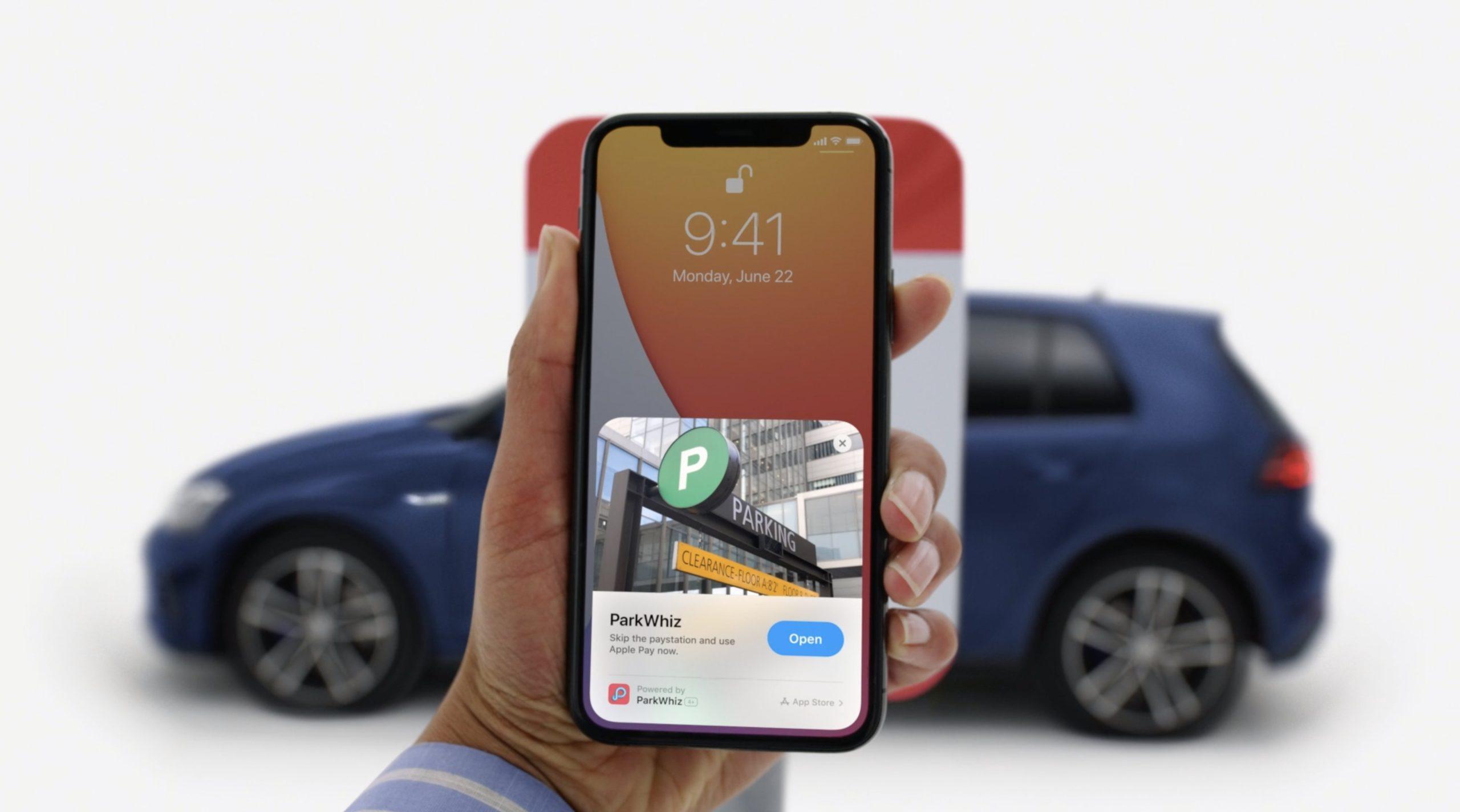 App Clip de parking