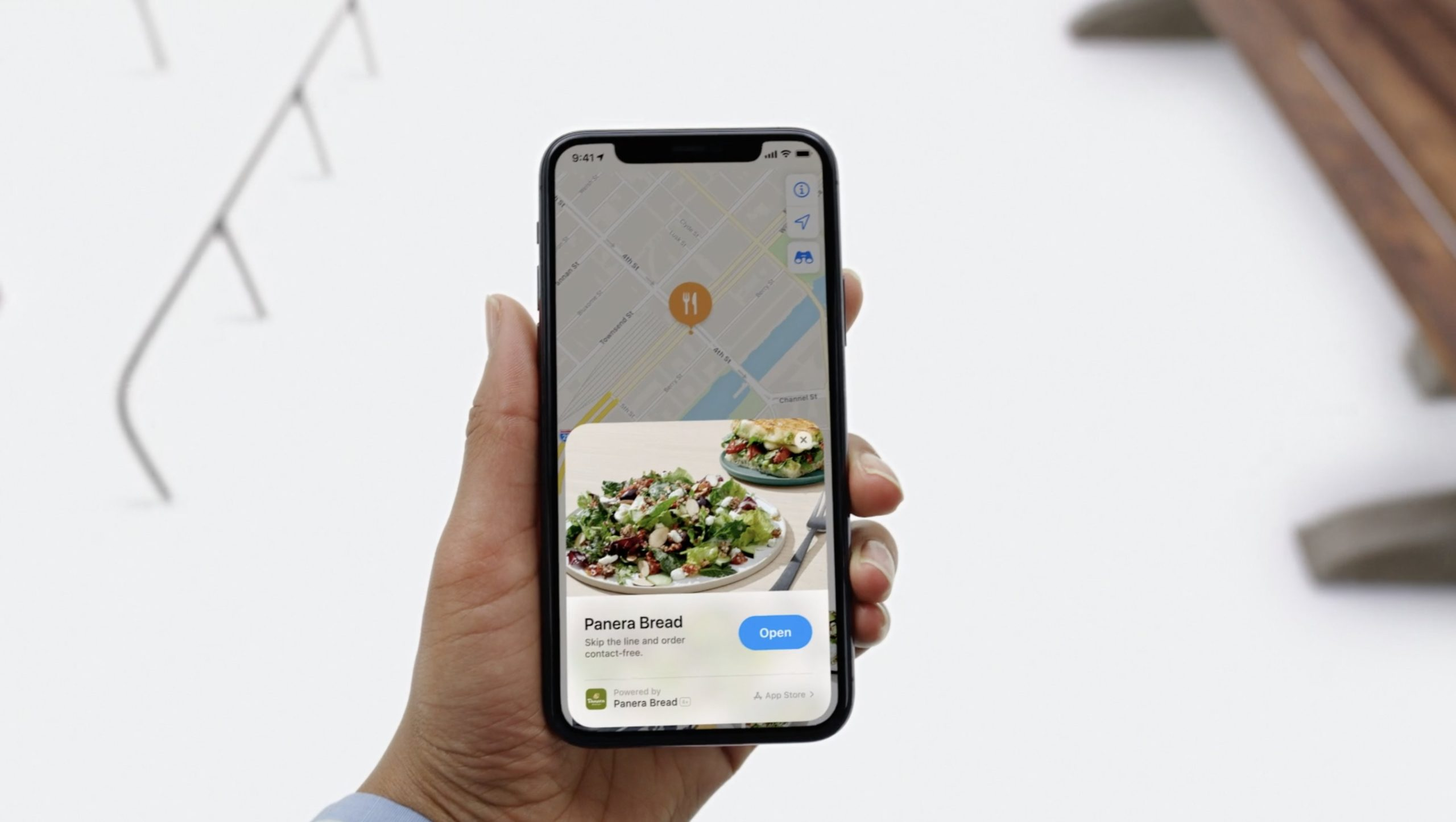 App Clip de restaurante