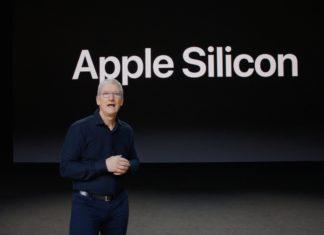 Tim Cook presentando Apple Silicon en la keynote de la WWDC 2020