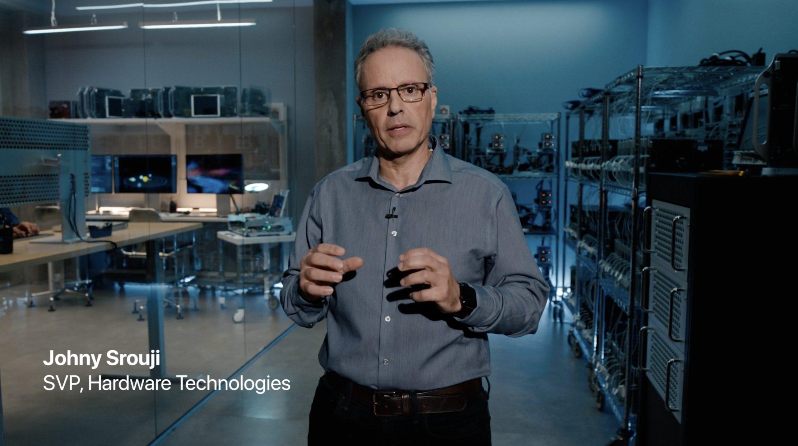 Johny Srouji, responsable de hardware en Apple, en su laboratorio del Apple Park