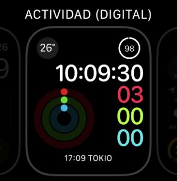 Configuración de complicaciones en el Apple Watch