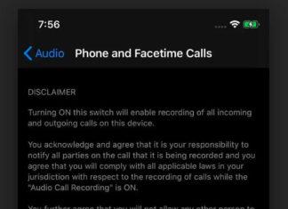 Aviso en la función de grabación de llamadas