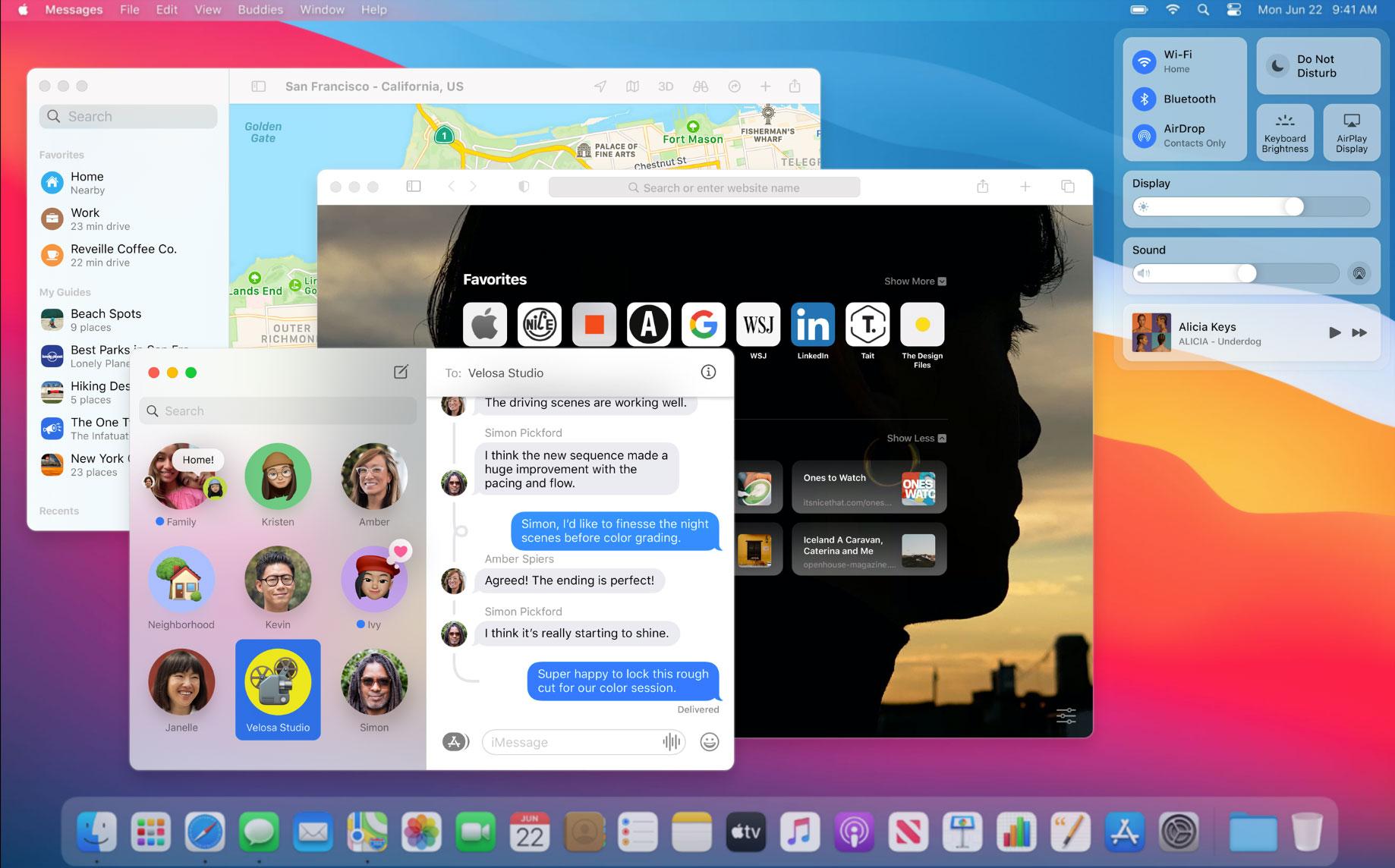 Nueva interfaz de macOS Big Sur