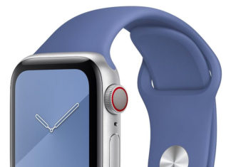 Correa de fluoroeslastómero en un Apple Watch