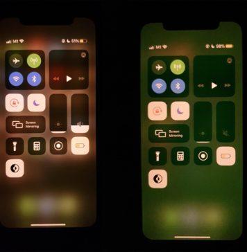 Pantalla con tintes verdosos en un iPhone 11