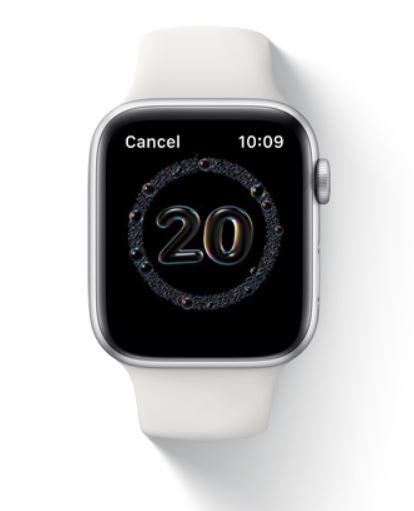 Control de lavado de manos del Apple Watch