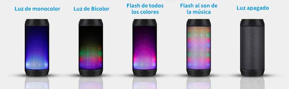 Altavoz Bluetooth con LEDs