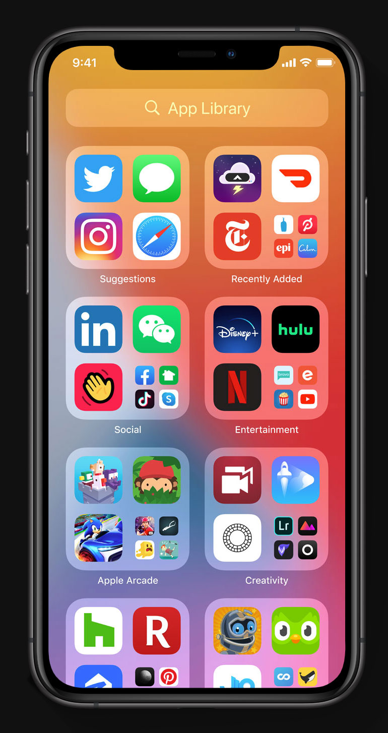 App Library en iOS 14