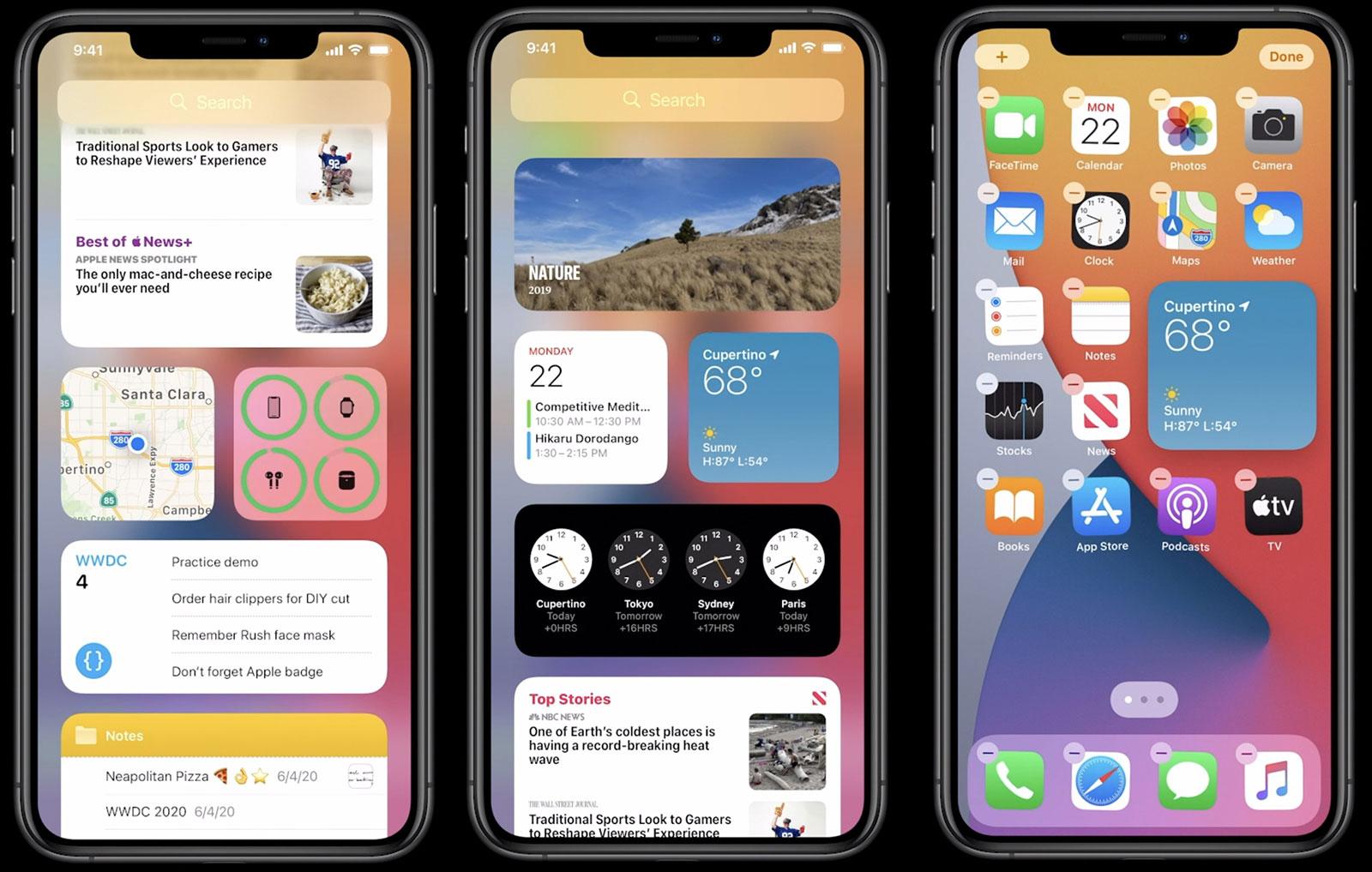 iOS 14 con widgets