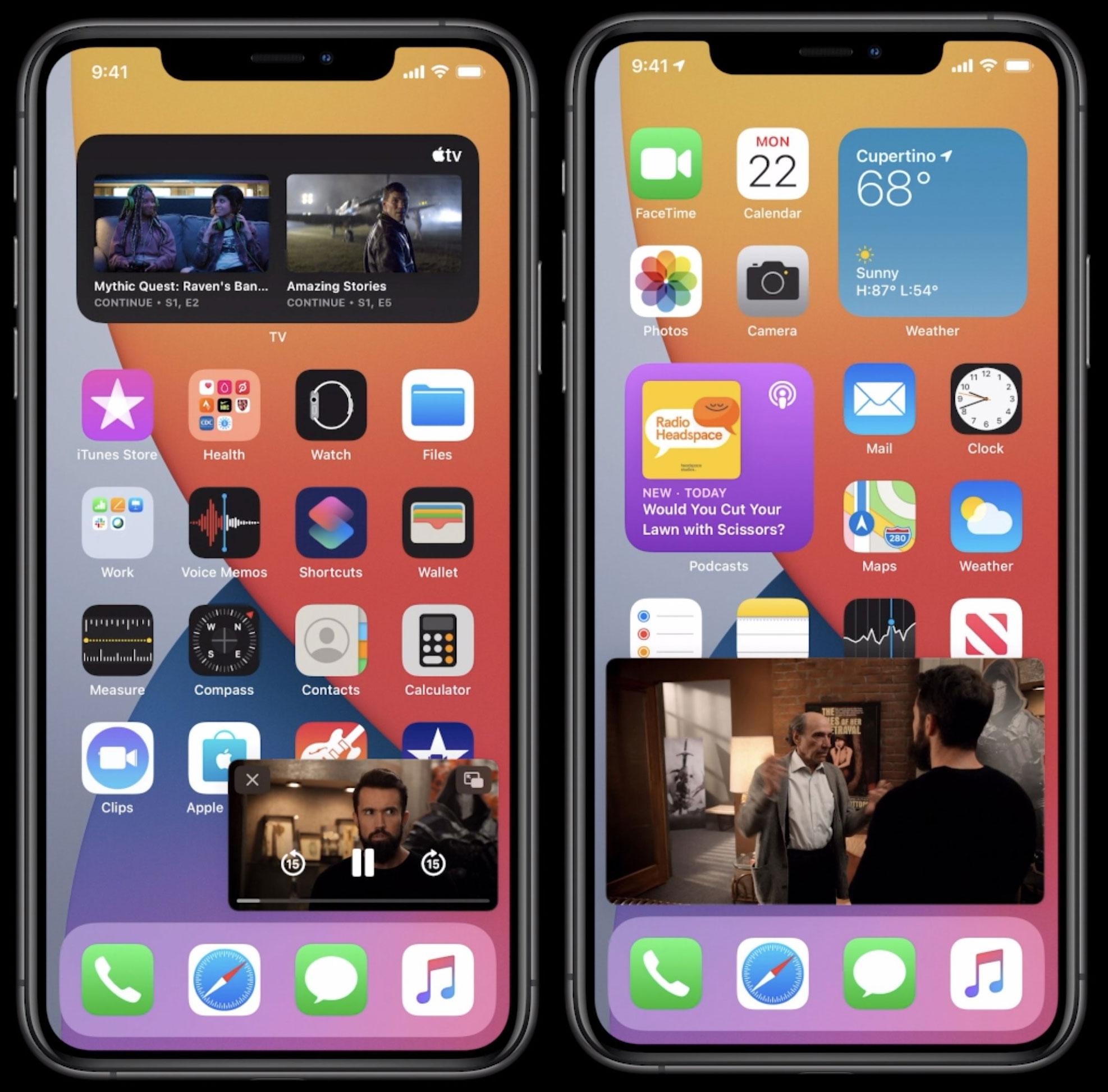 Video picture in picture sobre todo lo demás en iOS 14